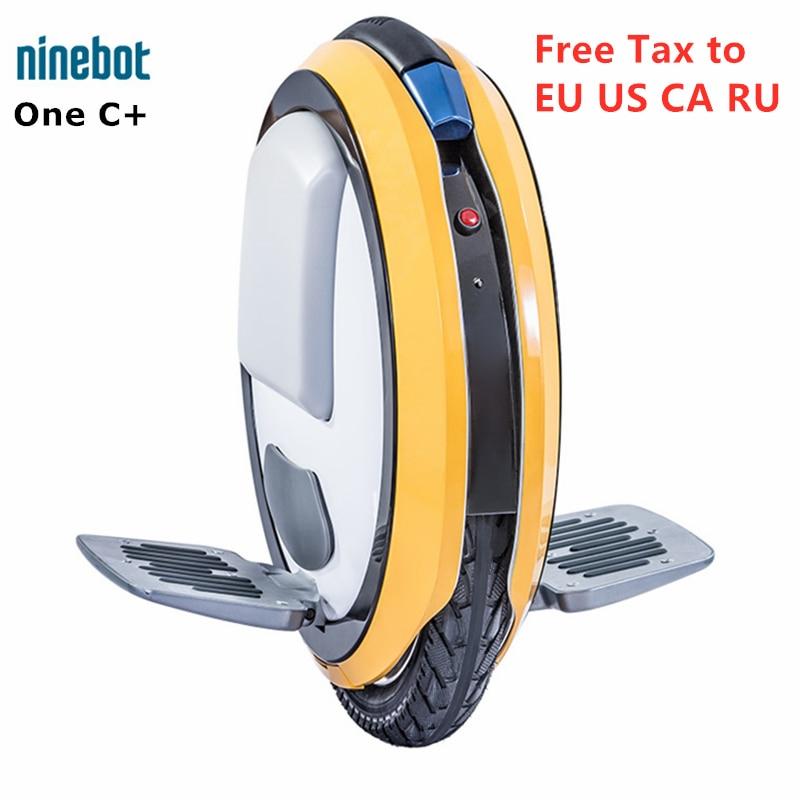 Original Ninebot un C + roue unique auto équilibrage Scooter Scooter électrique intelligent monoroue brouette Hoverboard planche à roulettes