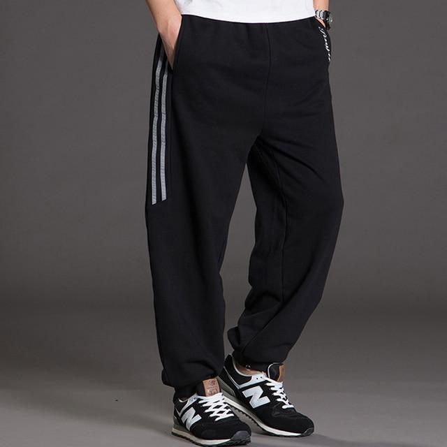2016 new brand casual clothing hip hop style stripe harem pants men plus size baggy fatty leggings sweatpants fashion trousers