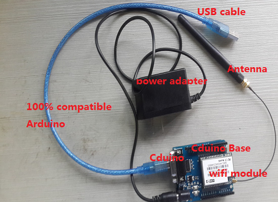 UNO R3 Development Board Cduino Base Power Adapter Omni Directional Antenna WIFI USB Cable Shield DIY KIT RC Electronic toy