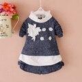 Новая коллекция весна девушки одежда мать и дети одежды Корейских 2 шт. наборы шорты для девочек платья костюмы 1-4 лет детская одежда
