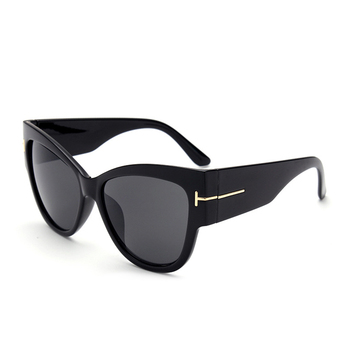 Women Cat Eye Shield Shape Brand Design Sunglasses 1