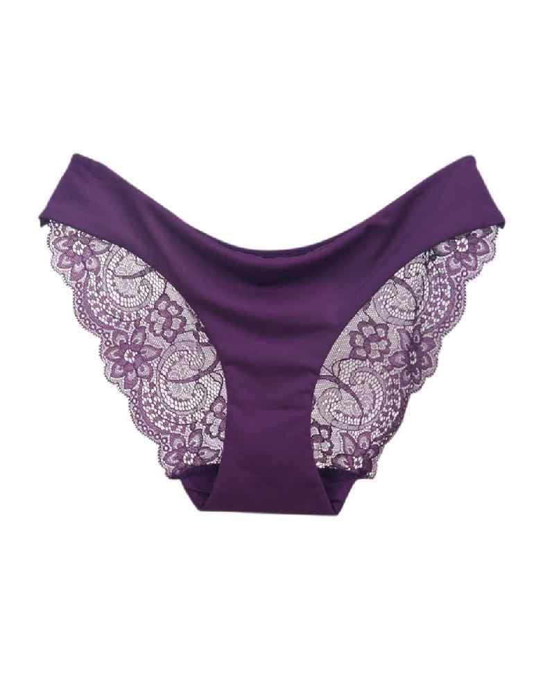 e60895acc97 ... MISSKY Woman Low Waist Lady Lace Lift Buttocks Large Size Hollow Sexy  Briefs Underpants Underwear Lingerie ...