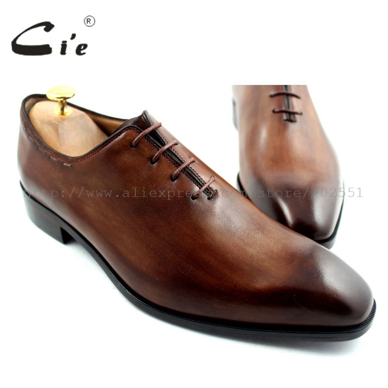 cie Free Shipping Bespoke Custom Handmade Genuine Calf Leather Men's Oxford Shoe Lacing Patina Color Brown OX193 adhesive craft cie square toe lace up custom handmade mens leather shoe bespoke calf leather breathable men s oxford patina dark brown ox 02 11