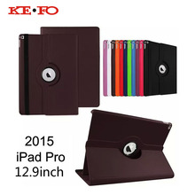 "KeFo For Apple iPad Pro 12.9 ""Case 2015 360 Rotating PU Leather Cover Funda For iPad Pro 12.9inch Tablet Accessories"