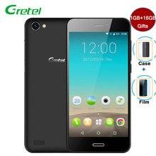 Гретель A7 Смартфон Android 6.0 1 ГБ Оперативная память + 16 ГБ Встроенная память 4 ядра 4.7 «HD 8MP 2000 мАч Батарея телефоны Celular 3 г разблокирована сотовых телефонов