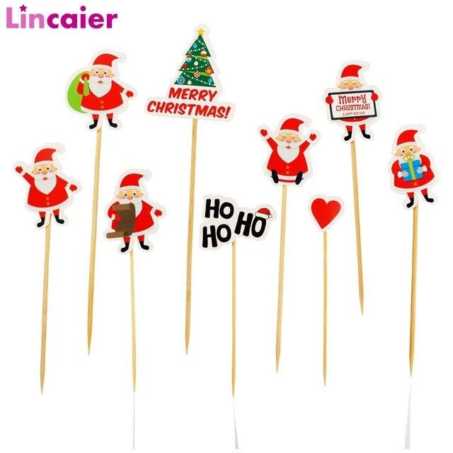 Lincaier Carta 2018 Merry Christmas Cake Topper Decorazioni Del Partito per la C