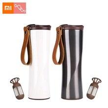 Xiaomi стакан для кофе Термокружка Moka Smart Cup OLED сенсорный дисплей температуры 430 мл портативная кофейная чашка из нержавеющей стали