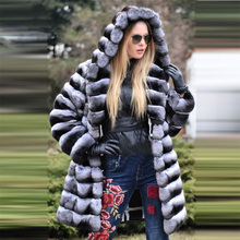 FURSARCAR Warm Thick Real Fur Coat 2018 New Luxury Winter Fur Women Natural Rex Rabbit Fur Jacket With Fur Collar wholesale 2018 rex rabbit fur coat girl fur coat wine red natural rabbit fur jacket girl jacket children s wear casual warm clothing