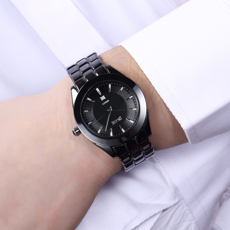 DALISHI Famous Brand Men Watches 100% Ceramic Quartz Watch Fashion Luminous Dial Male Business Wristwatch Relogio Feminino luminous quartz watch men leather watches fashion casual luxury business watch wood analog male wristwatch relogio feminino