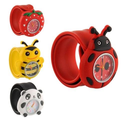 2019 New Fashion Cute Cartoon Watches Children Girl Boy Quartz Flexible Watch Waterproof Quartz 3D Cartoon Wristwatches
