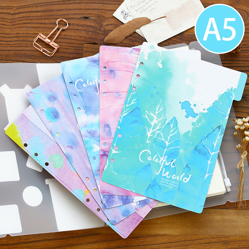 Creative Colored Dividers For Spiral Notebooks Cute Cartoon School