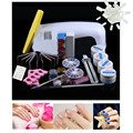 ColorWomen 9W Dryer Lamp Tube UV Gel Kit Brush Buffer Toe Seperator Glitter Powder Liquid Tools Nail Tips Glue DIY Kit 160926