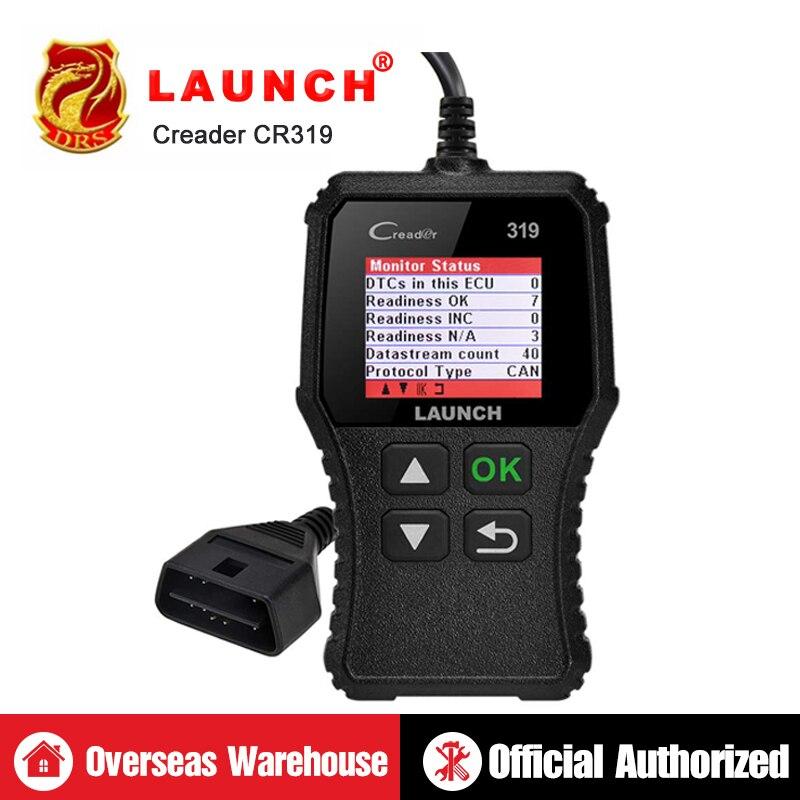 Leitor de Código de lançamento Creader 319 CR319 X431 Auto OBDII EOBD Ferramenta de Diagnóstico Automotivo Completo OBD2 Scanner como Creader 6001 CR3001