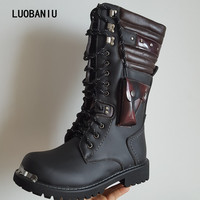 2018 New Military boots winter men boots tactical boots leather men shoes Lace Up men botas zapatos hombre australian boots