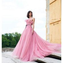 Вечернее платье verngo розовое длинное вечернее на заказ