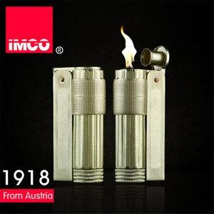 Image 2 - Классическая Подлинная Электронная зажигалка IMCO, обычная зажигалка, оригинальная медная бензиновая сигарета, газовая зажигалка для сигар из чистой меди