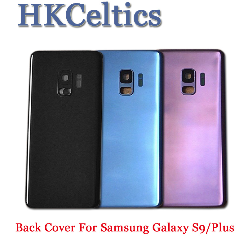 For SAMSUNG Galaxy S9 <font><b>G960</b></font> /S9 Plus G965 <font><b>Back</b></font> Battery Cover Door Rear Glass Housing Case For SAMSUNG S9 G960f Battery Cover image