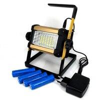 50 W Projecteurs Rechargeable 36LED Lumière Lampe Rouge/Blanc/Bleu Lumière pour Camping En Plein Air Travail Lumière avec 4 pcs 18650 Batterie