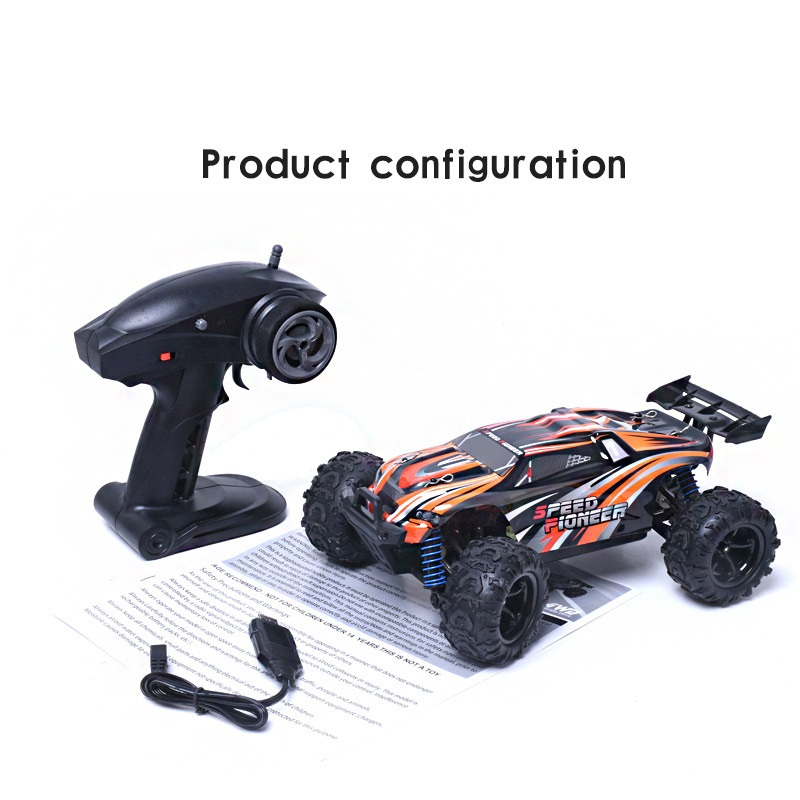 RC Go-anywhere vehicle 9302 2.4G 1:18 scale high speed 40-50KM/H 4WD remote control plastic toy car truck toy for sandy land huanqi 739 high speed rc cars 1 10 scale 2 4g 2wd 42km h rechargeable remote control short truck off road car rtr vehicle toy