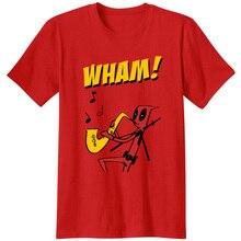 ff655c9d3 Deadpool Careless Whisper Men Unisex Tees T Shirts classic Novelty Sax WHAM  marvel saxaphone musician Movies