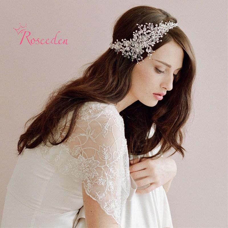 Prix pour 100% cristal fait main perles de mariée de mariage cheveux ornements femmes Magnifique strass parti accessoires de mariage nouveau design RE615