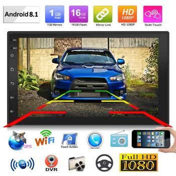 VODOOL 9219 7 inch Car Multimedia Player Android 8.1 Car Stereo GPS Navigation WiFi USB Radio Receiver Audio Video Player 1G+16G image