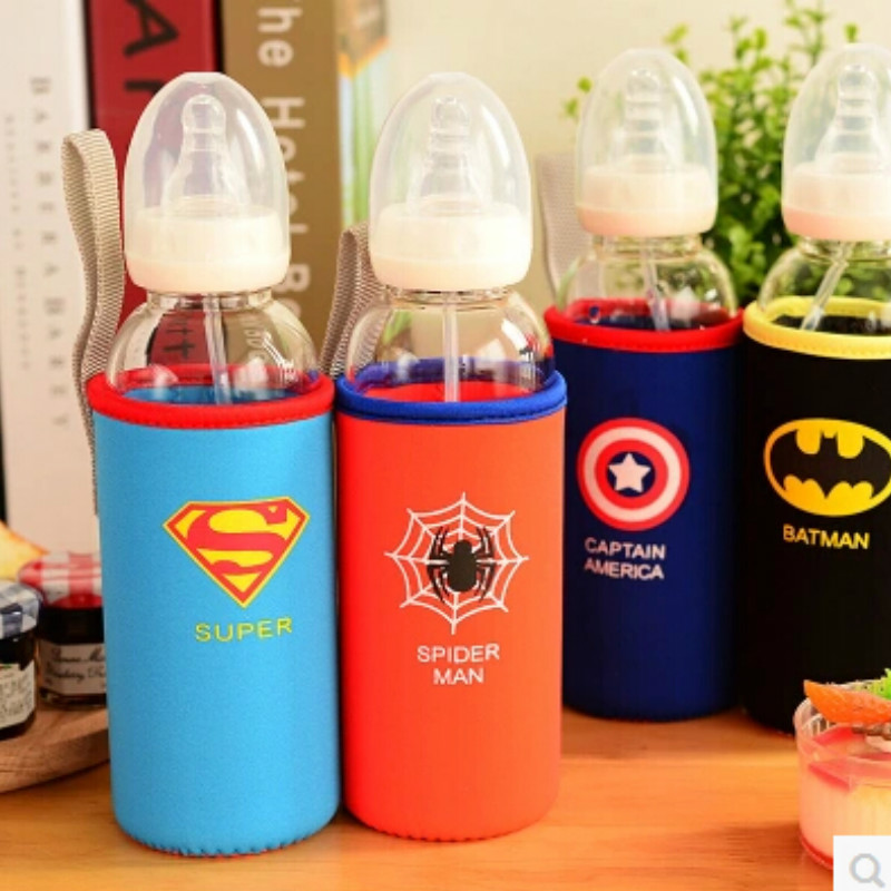Glass bottle nipple type water glass bottle and adult straw type portable kettle High temperature non