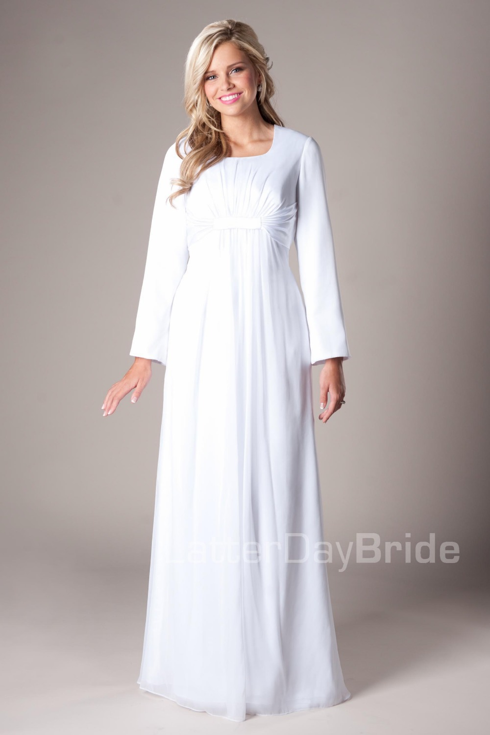 Long White Dresses with Long Sleeves