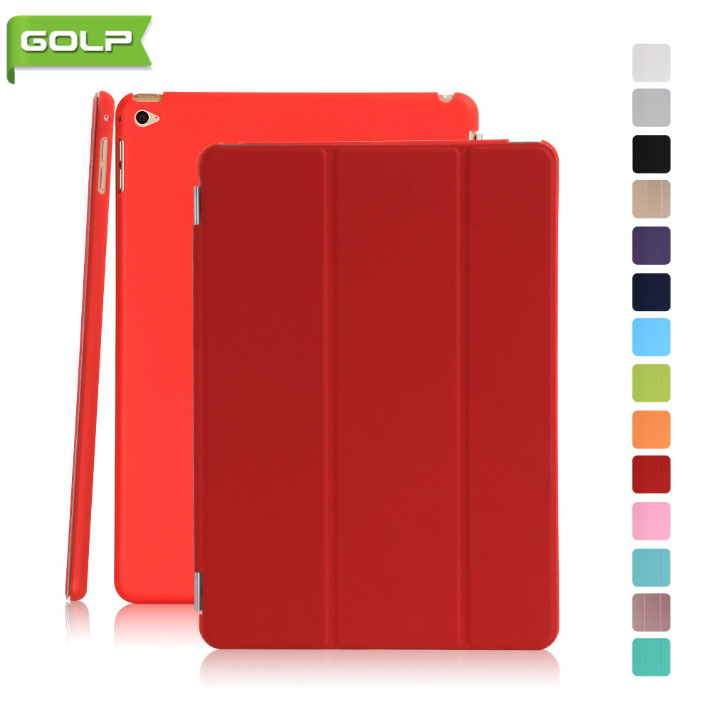 Case for IPad Mini 4, GOLP Detachable Perfect Stand Magnetic PU Leather Smart Cover PC Translucent Back Case for IPad Mini 4 soft silicone tpu translucent back cover for ipad mini 4 mini4 trifold stand smart auto on off premium pu leather slim fit case