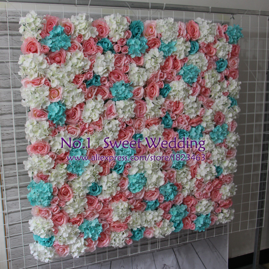 artificial flower wall for wedding backdrop hydrangea orchid