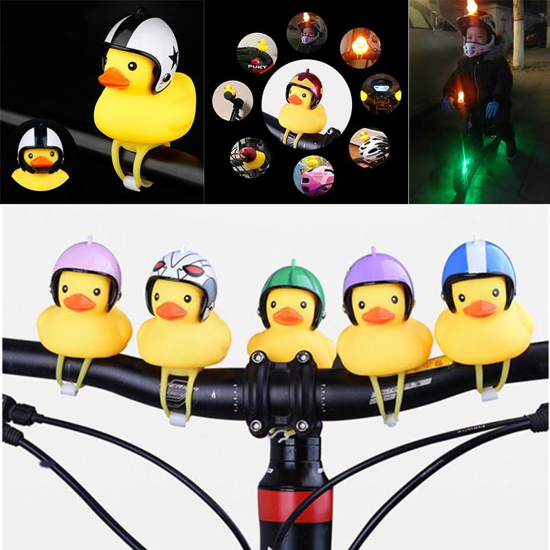 Желтая утка со шлемом, велосипедный звонок, кольцо, Колокольчик для автомобиля, Велоспорт, велосипед, езда на велосипеде, рог, сигнализация, ...