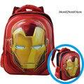 Marvel Iron Man Schoolbag Kindergarten/Boys 3D Mochilas Patrón/Diseño de la Historieta Mochilas/Niños Mochila
