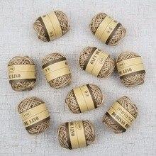 Barato 10 m/lote Guita natural cuerda de yute hilo de cuerda para DIY decoración juguete artesanías piezas vintage decoración rústica para boda