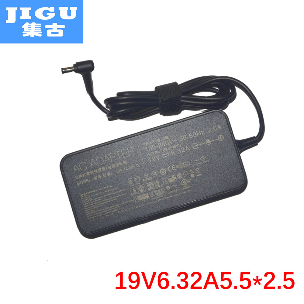 JIGU 19V 6.32A 5.5*2.5MM 120W For Asus G50 G73 G71 K55 K53 K73 GL751 UX501 X550 Laptop AC Charger Adapter asus laptop adapter 19v 6 32a 120w 5 5 2 5 pa 1121 28 ac power charger for asus n750 n500 g50 n53s n55 laptop
