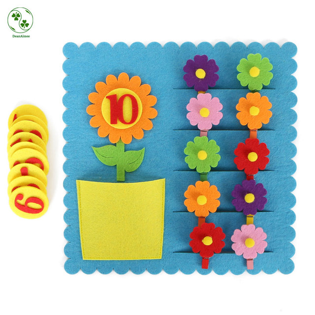 Kindergarten Felt Cloth Craft Kids Learning The Numbers 1 10 High