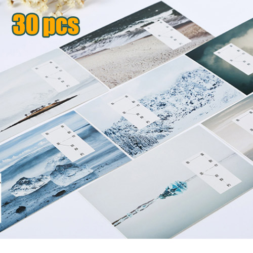 30pcs pack little town story postcard travel greeting gift christmas cards birthday card letter envelope gift card - Birthday Card Packs