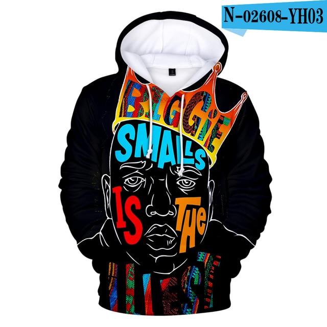 Xmas The Notorious B.I.G Biggie Smalls Mens Funny Hoodie Big Hip-Hop Rap