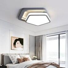 Modern nordic minimalist art deco ceiling light creative triangle lron LED lamp for living room children bedroom fixture e27