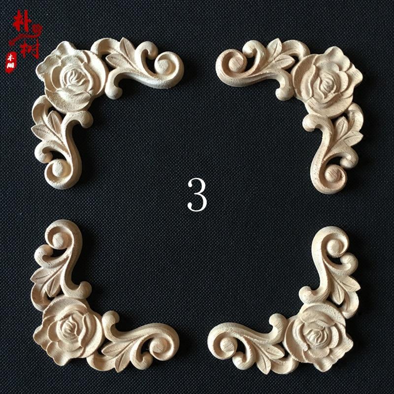 Moda esquina de madera flor moda apliques de madera esquina flor - Mueble - foto 2