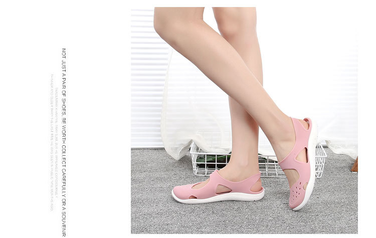 HTB1Cy09bDjxK1Rjy0Fnq6yBaFXad - Women's Sandals Fashion Lady Girl Sandals Summer Women Casual Jelly Shoes Sandals Hollow Out Mesh Flats Beach Sandals