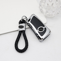 QHCP Zinc Alloy Car Styling Key Cover Case Holder Auto Remote Key Shell Protection Accessory For Lexus ES200 260 300H LS500 2018