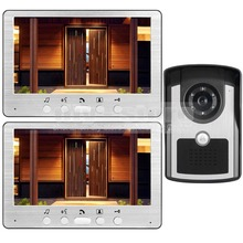 DIYSECUR 7 pulgadas Teléfono Video Atado con alambre Timbre Video de la Cámara Sistema de Seguridad Casero de Intercomunicación A Prueba de agua Al Aire Libre