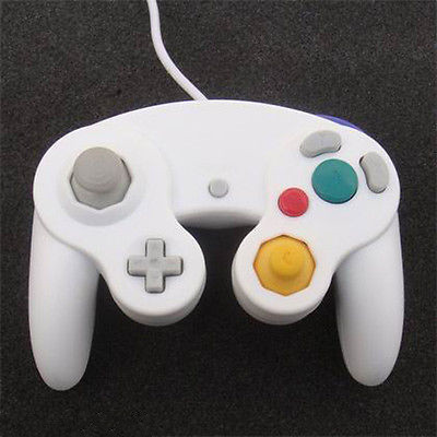 2pcs-White-Wired-Shock-Game-Controller-G