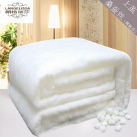 noble 100% mulberry silk   comforter   filling without quilt cover,Choose different weight in different seasons