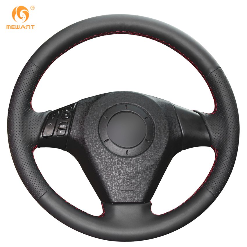Mewant Black Artificial Leather Car Steering Wheel Cover For Mazda 3 Axela 2003 2009 Mazda 6