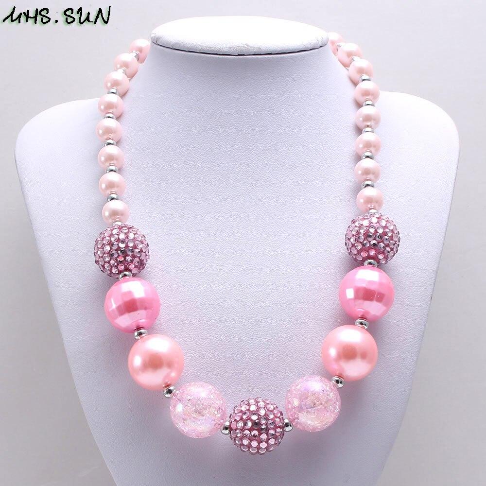 MHS. SOL Meninas Bebê Criança Chunky Bubblegum Chunky Contas de Colar de Moda Colar Colorido Beads Chunky Jóias Para O Presente Do Partido