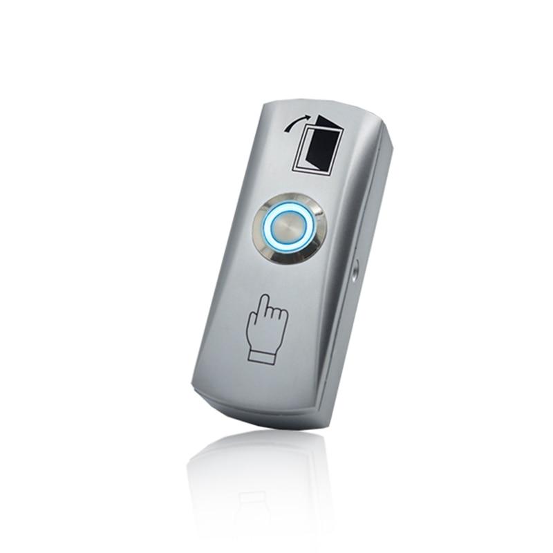 LED Slim Metal Waterproof Door Switch Door Exit Release Button For Access Control
