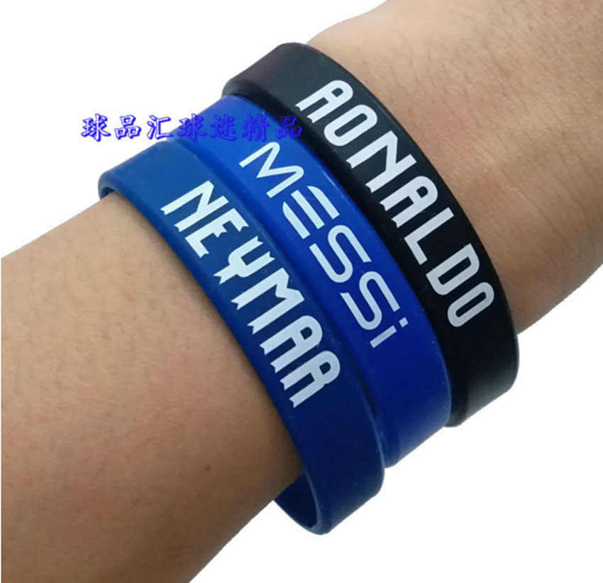 QiYuFang Sport Football Soccer Star CR7 Messi Neymar C.Ronaldo Bracelet Accessiories Men Gift Women Loved Fans Bracelets