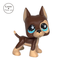 pet shop lps toys GREAT DANE 817 brown dog star eyes Rare old collections figure