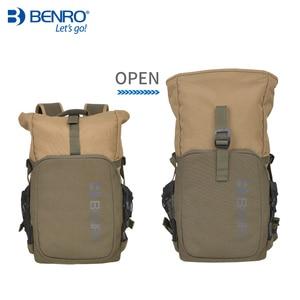 Image 3 - Benro incognito mochila dslr, bolsa de vídeo notebook, câmera de grande tamanho, macia, estojo de vídeo, capa de chuva